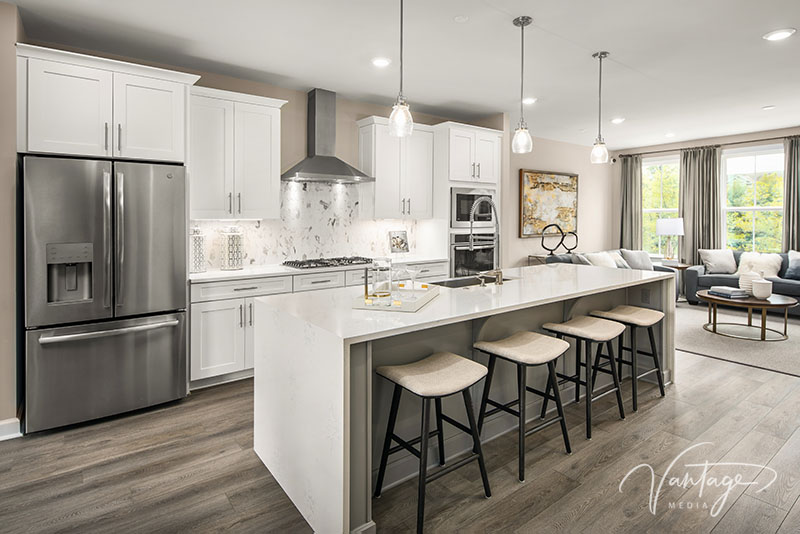 Model Home Kitchen Photography